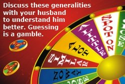 Understanding men should not be a game of chance. Discuss these generalities with your husband to understand him better